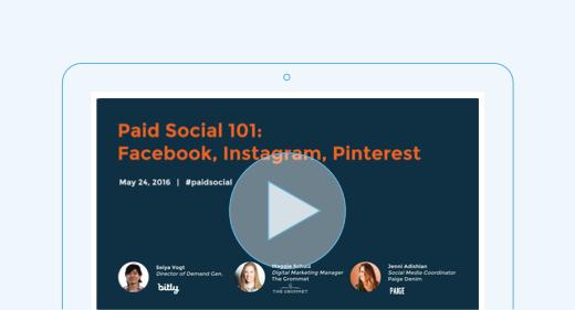 Paid Social 101 Webinar