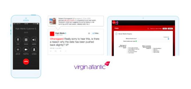Virgin Atlantic customer support landing page