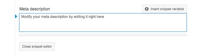 Adding a meta description in WordPress